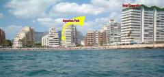 SPAIN COSTA BLANCA CALPE APARTMENT ON LEVANTE BEACH FRONT WITH POOL AND GARDEN