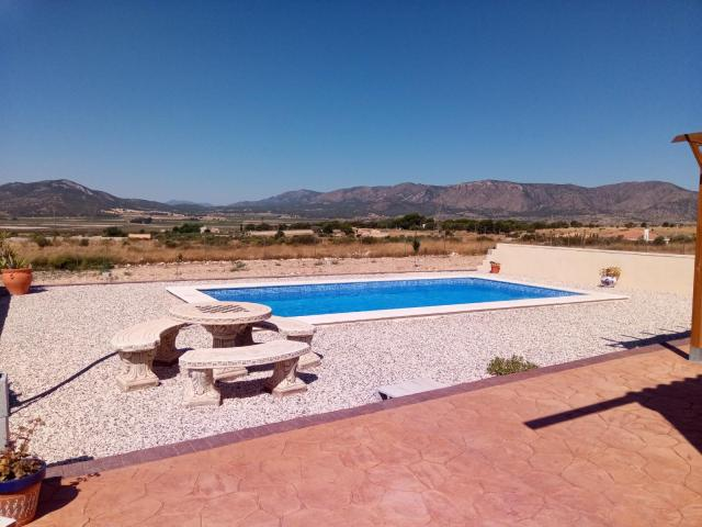 5/6 Bed off grid Villa with 8x4m pool and recently refurbished. PV solar electric and hot water