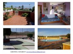GRAN CANARIA.BUNGALOW IN GREEN SEA. PLAYA DE LAS BURRAS. SAN AGUSTIN.