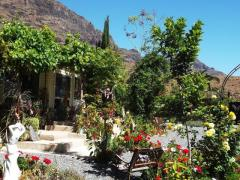GRAN CANARIA: house & garden at Arteara (South Gran Canaria)