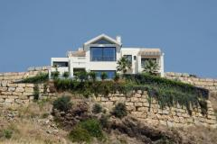Contemporary-style villa with panoramic sea, golf and mountain views